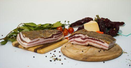 pancetta curata per antipasti per ristoranti gourmet bio