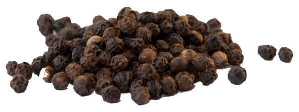 grani di pepe nero