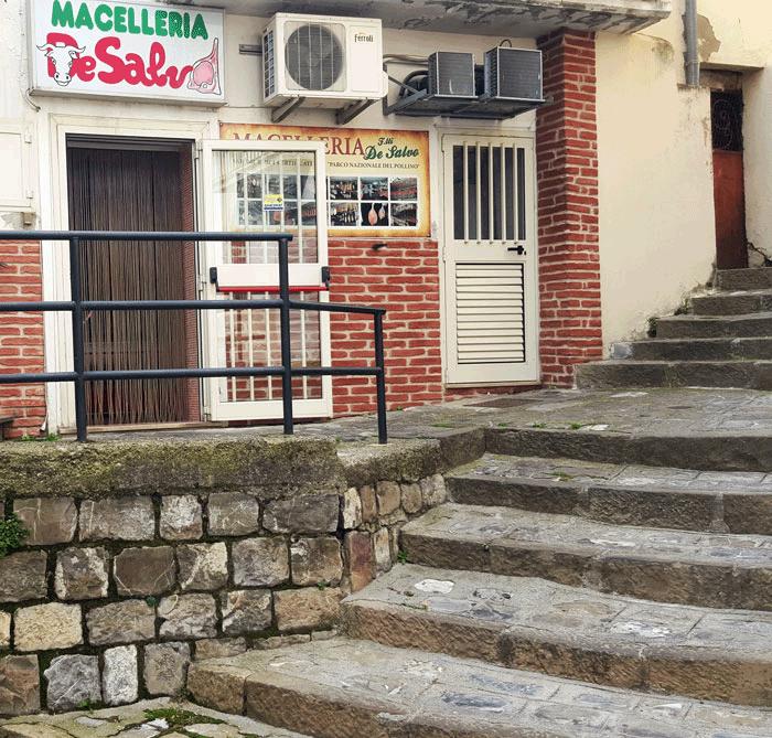 entrata macelleria de salvo punto vendita chiaromonte