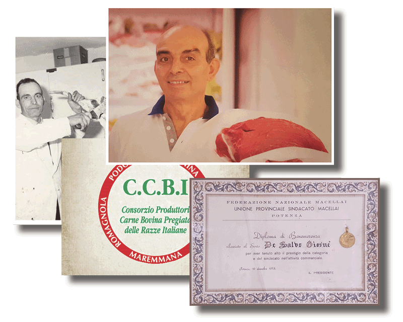 attestato unione provinciale sindacato macellai potenza 1972 de salvo arturo e giosue