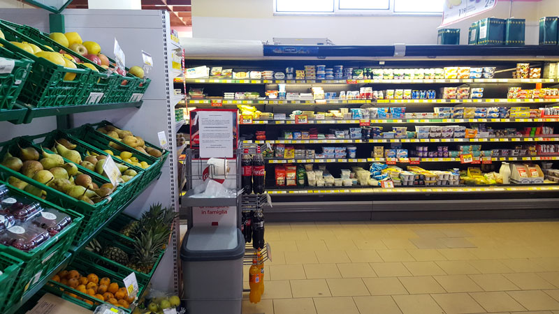 reparto yogurt supermercato