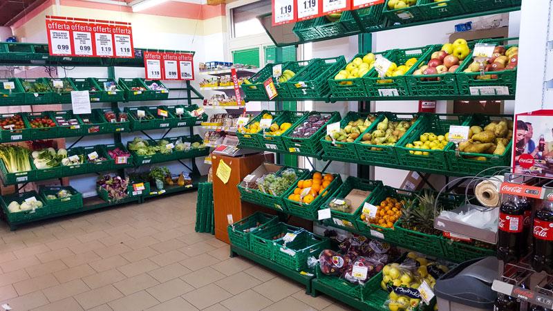 frutta e verdura reparto