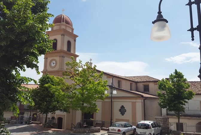 chiesa san giovanni battista piazza garibaldi chiaromonte provincia di potenza campanile